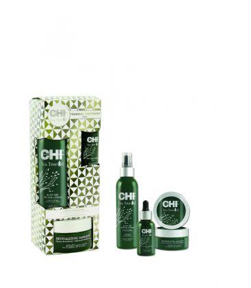Възстановаващ, успокояващ и подхранващ комплект - CHI Tea Tree Oil  CHI